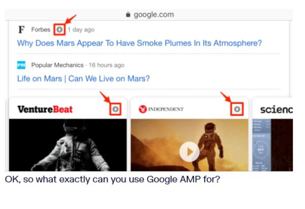 علامت AMP در سایت ها