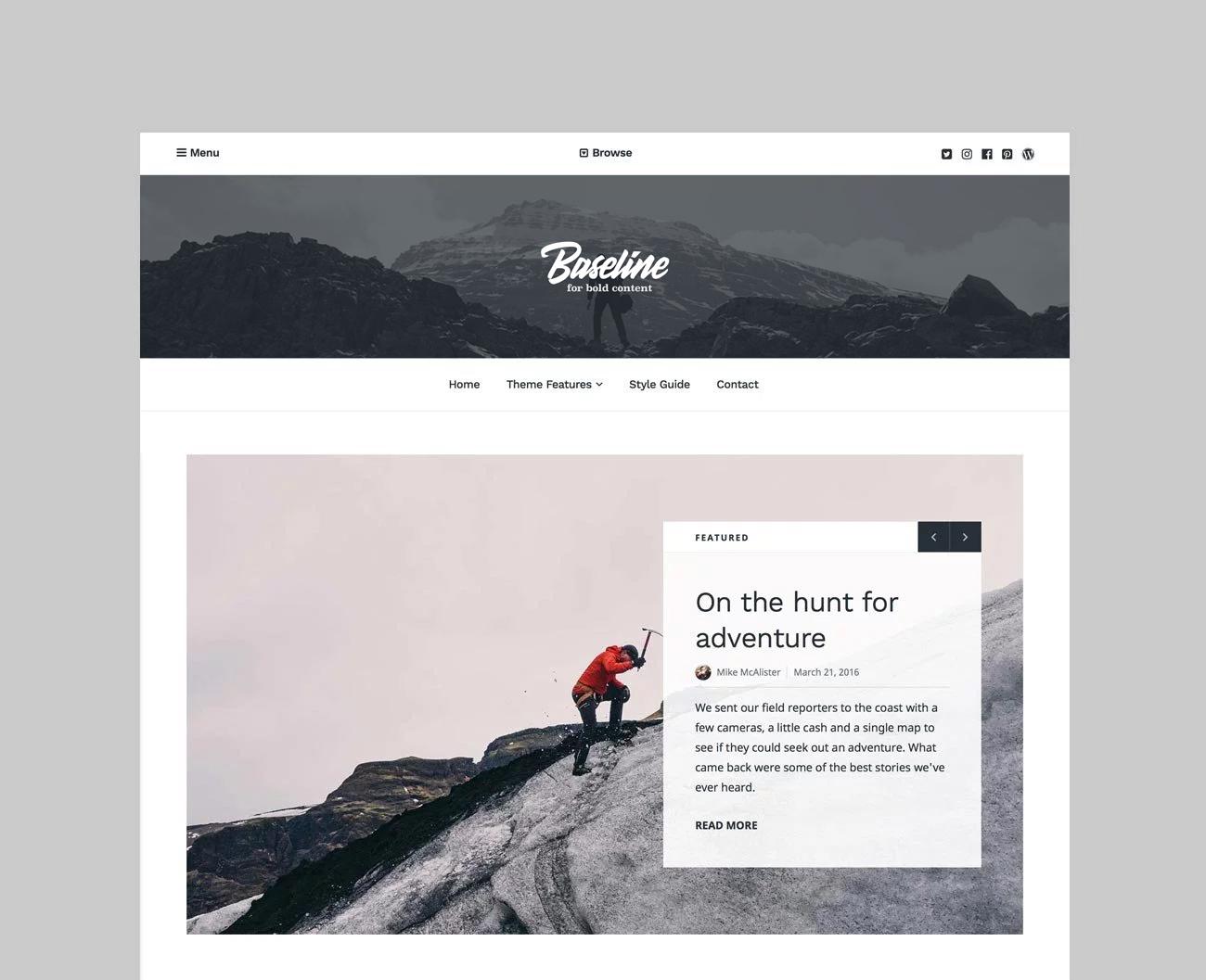 baseline- قالب برگزیده وردپرس