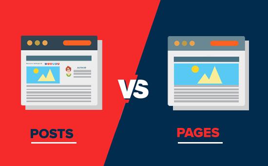 page vs post- مقایسه برگه و نوشته