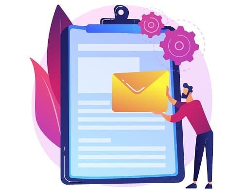 ایجاد لیست ایمیل