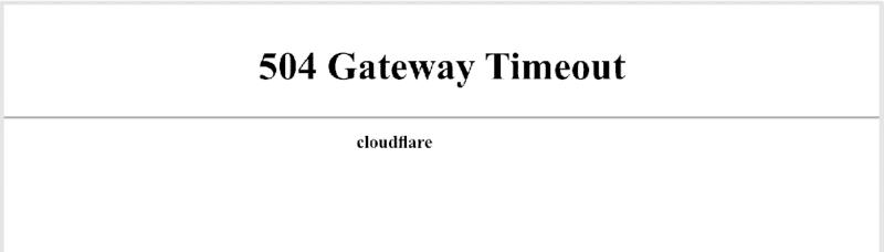 504 Gateway Timeout در Cloudflare