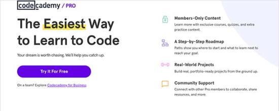 Codecademy نمونه لندینگ پیج