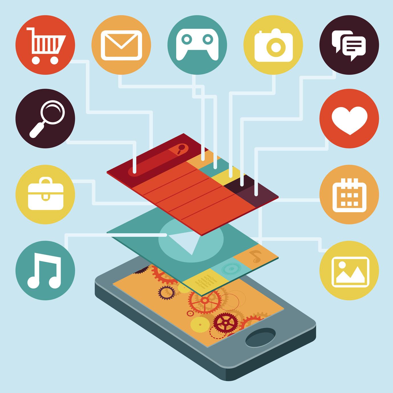 ساخت انواع اپلیکیشن موبایل