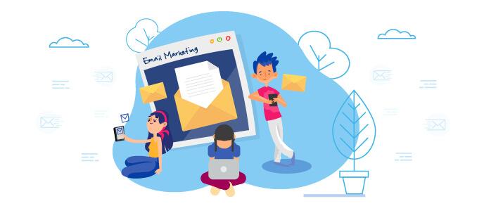 باز کردن نامه با لپ تاپ و موبایل و ایمیل مارکتینگ