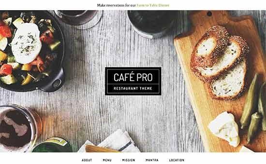قالب رستورانی کافه پرو