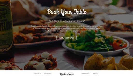 سایت رستورانی با قالب ocean wp