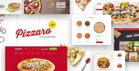 قالب رستورانی pizzaro